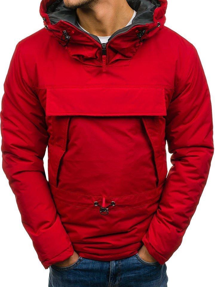 Červená pánska športová zimná bunda BOLF JS166 7c7cca346a7