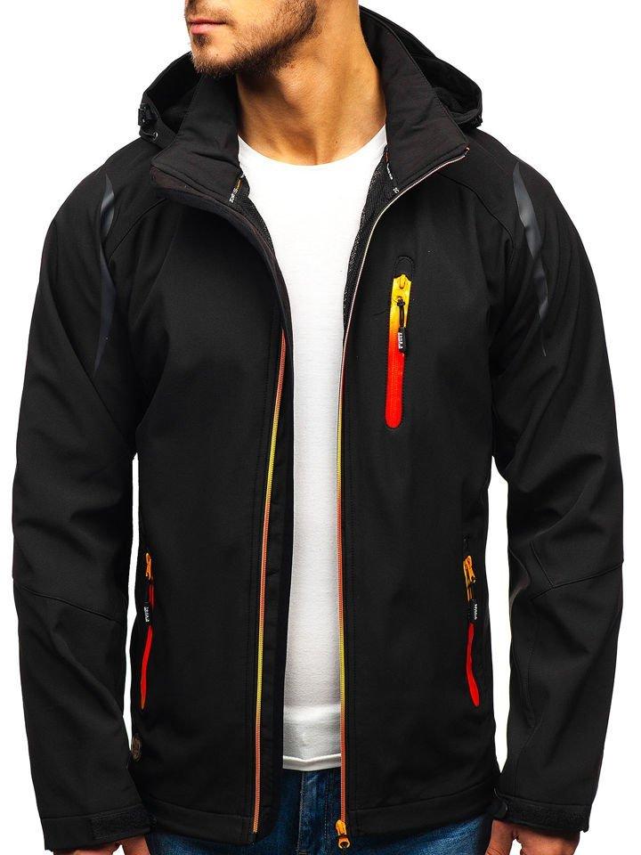 989b56d6b Čierna pánska softshellová bunda BOLF ZS202