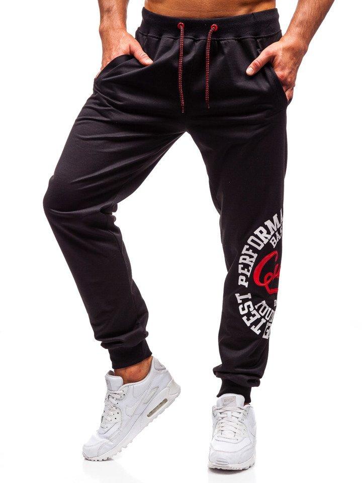 97285c5c64855 Čierne pánske teplákové joggery BOLF MK10