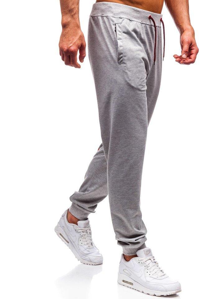 2711aac9b3a39 Šedé pánske teplákové joggery BOLF MK10