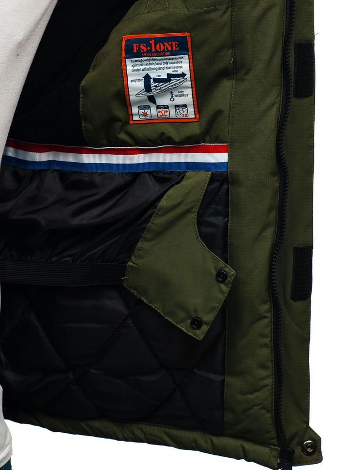 679ae2915 Zelená pánska lyžiarska zimná bunda BOLF HZ8112