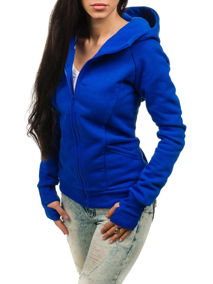 kráľovský modrá dámska mikina BOLF 17S c626eeb2bf7