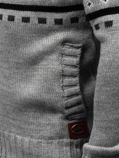 Antracitový pánsky rozopínací sveter BOLF 585