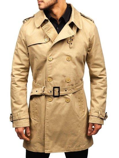 Béžový pánsky plášť BOLF 5710