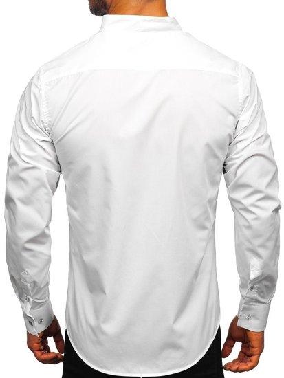 Biela pánska košeľa s dlhými rukávmi BOLF 5702