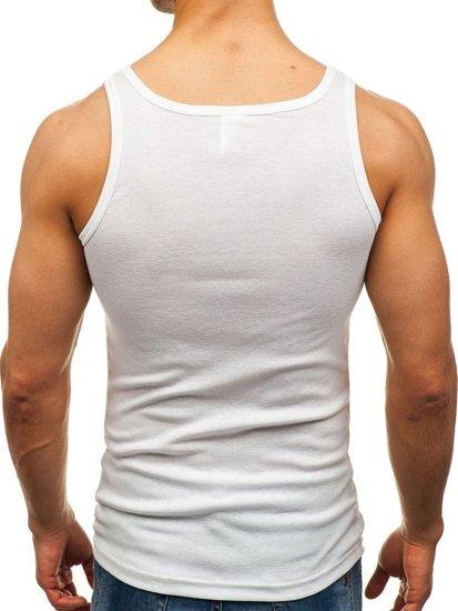 Biele pánske tričko bez potlače BOLF C10008-A