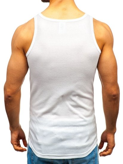 Biele pánske tričko bez potlače BOLF C10010