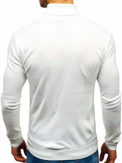 Biely pánsky sveter / rolák BOLF 2400
