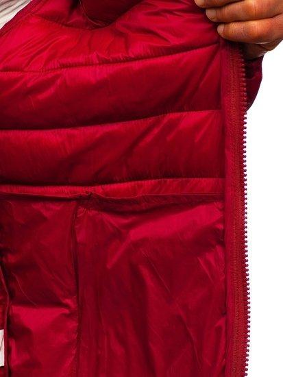 Bordová pánska prešívaná prechodná bunda Bolf 1119