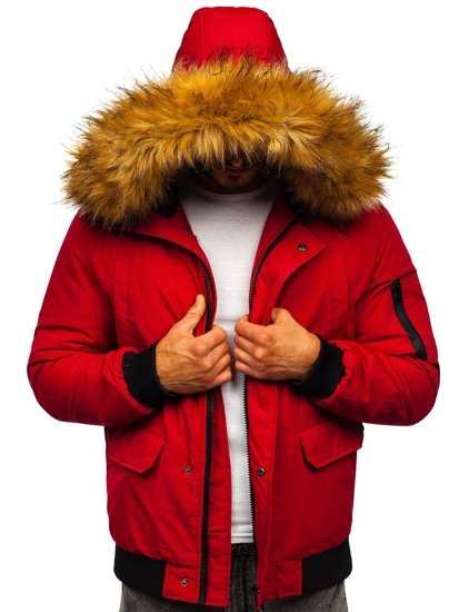 Bordová pánska zimná bunda Bolf 2019