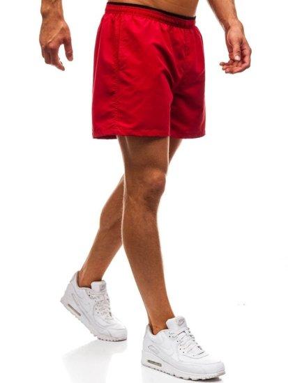 Bordové pánske kúpacie šortky BOLF Y768