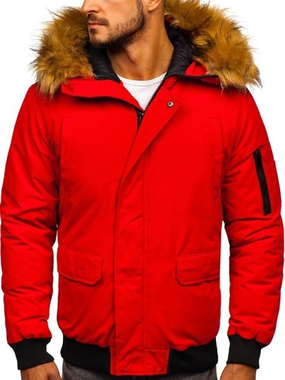 Červená pánska zimná bunda Bolf 2019