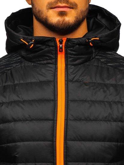 Čierna pánska prechodná bunda Bolf TY28