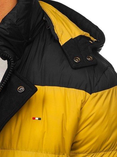 Čierna pánska prešívaná športová zimná bunda Bolf  1975