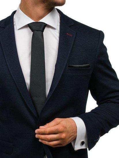 Čierna pánska sada: kravata, manžety, kapesník BOLF KSP01