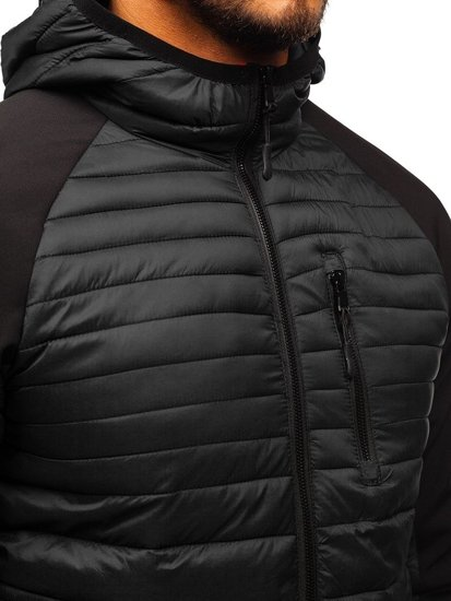 Čierna pánska športová prechodná bunda BOLF LY1020