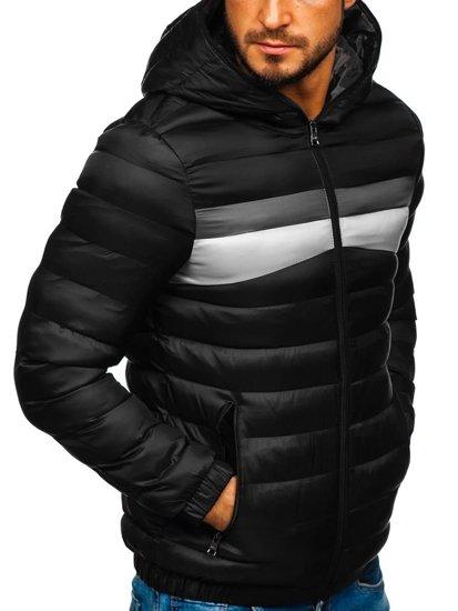 Čierna pánska športová prechodná bunda Bolf 5935