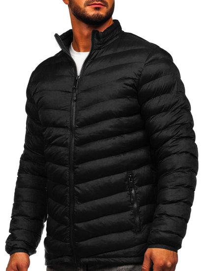 Čierna pánska športová prechodná bunda Bolf SM70
