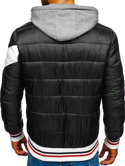 Čierna pánska športová zimná bunda Bolf  JK395