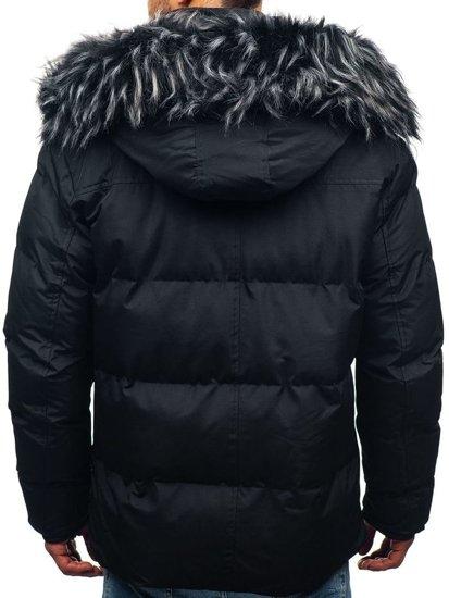 Čierna pánska zimná bunda BOLF 201821