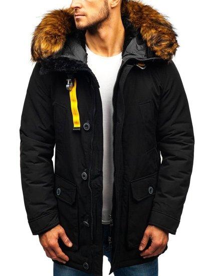 Čierna pánska zimná bunda BOLF 99126