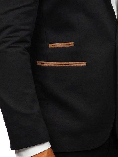 Čierne pánske elegantné sako Bolf 9400