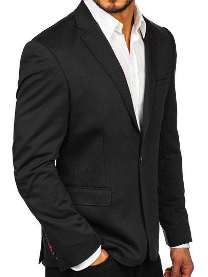 Čierne pánske elegantné sako Bolf RBR406