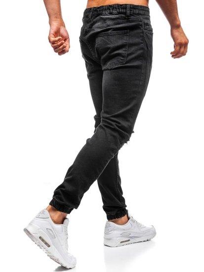 Čierne pánske riflové jogger nohavice BOLF 2036-1