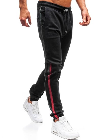 Čierne pánske riflové jogger nohavice BOLF 2053