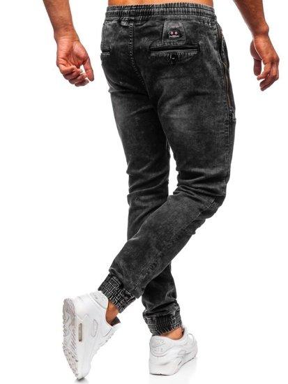Čierne pánske rifľové joggery Bolf KA755