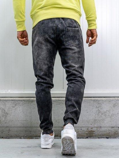 Čierne pánske rifľové joggery  Bolf KK1068