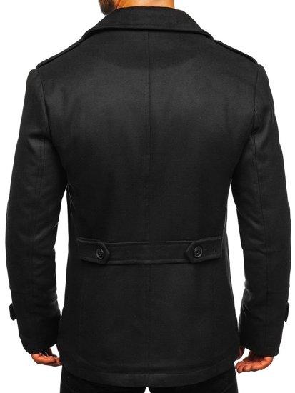 Čierny pánsky zimný kabát BOLF 3135