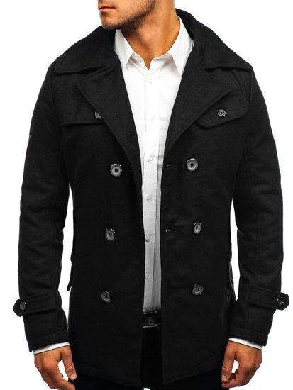 Čierny pánsky zimný kabát BOLF EX906