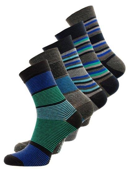 Farebné pánske ponožky BOLF X10026-5P 5 KS