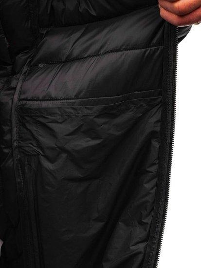 Grafitová maskáčová pánska športová prechodná bunda BOLF LY1001-1