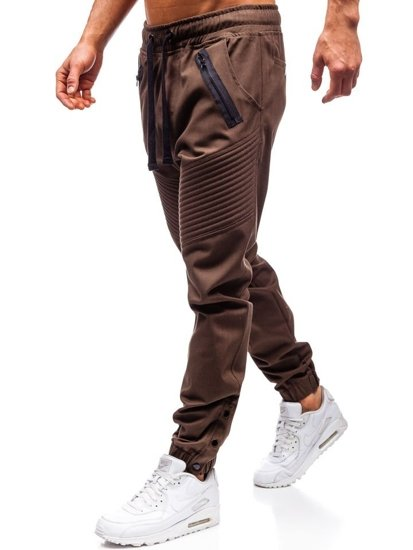 Hnedé pánske jogger nohavice BOLF 0952