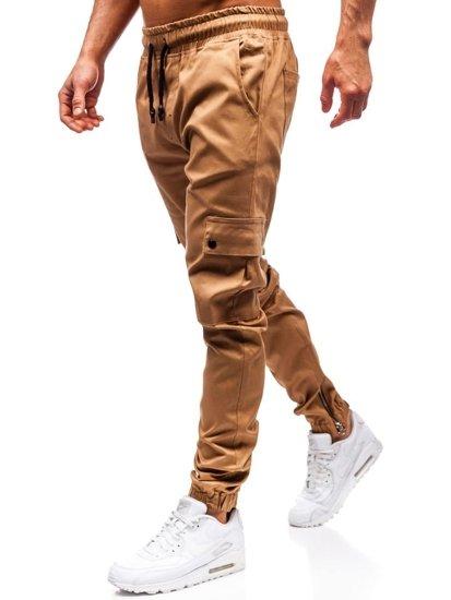 Kamelové pánske jogger nohavice BOLF 0858