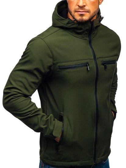 Khaki pánska softshellová bunda BOLF 56003