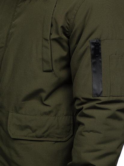 Khaki pánska zimná bunda Bolf 2019