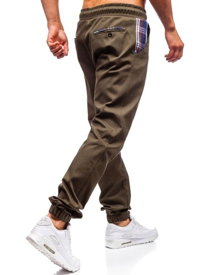 Khaki pánske jogger nohavice BOLF 0449