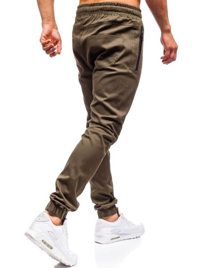 Khaki pánske jogger nohavice BOLF 0803
