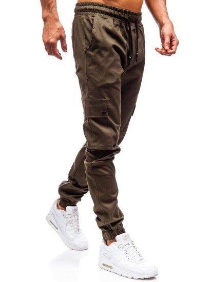 Khaki pánske jogger nohavice BOLF 0858