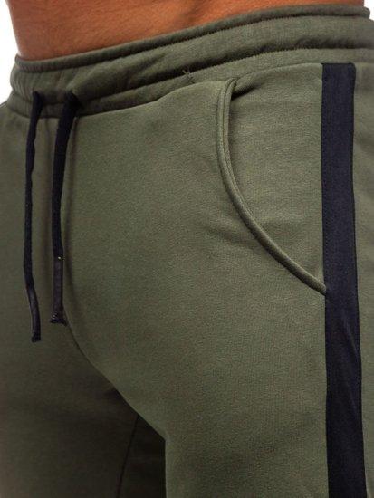 Khaki pánske tepláky Bolf 11120