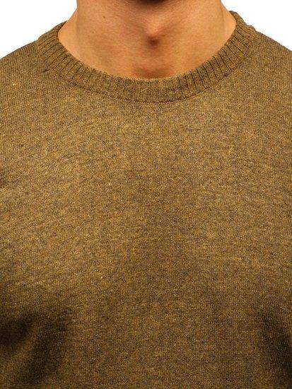 Khaki pánsky sveter BOLF 6001