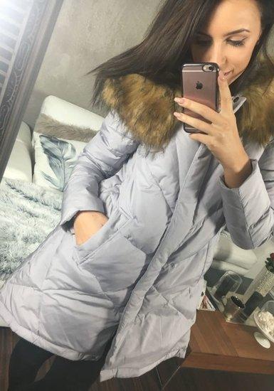 Lilavá dámska zimná bunda BOLF 8074