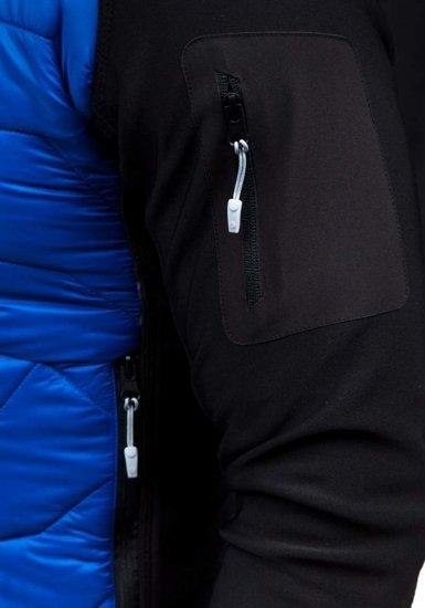Modrá pánska prechodná bunda BOLF S015
