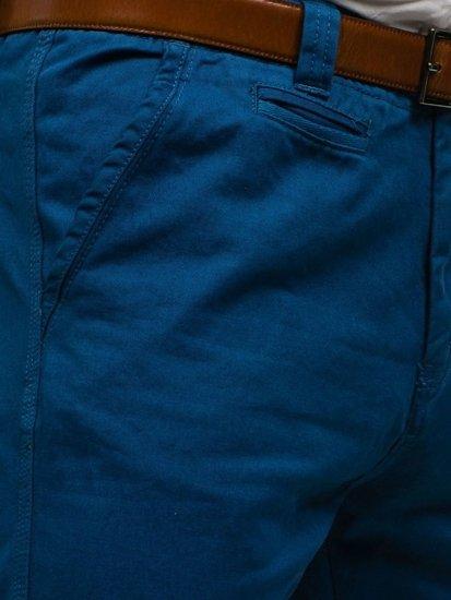 Modré pánske chinos nohavice BOLF 6191