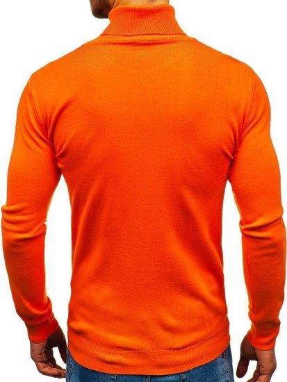 Oranžový pánsky sveter / rolák BOLF 2400