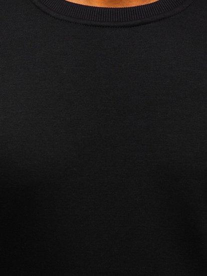Pánska čierna mikina bez kapucne Bolf 2001