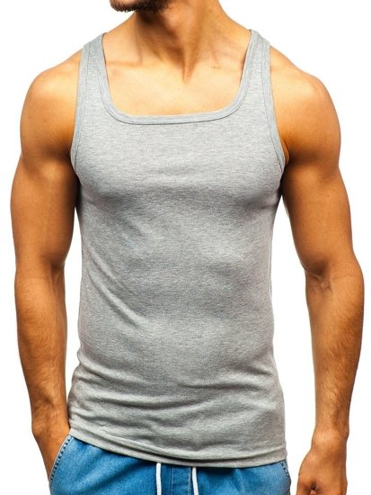 Šedé pánske tričko bez potlače BOLF C10010